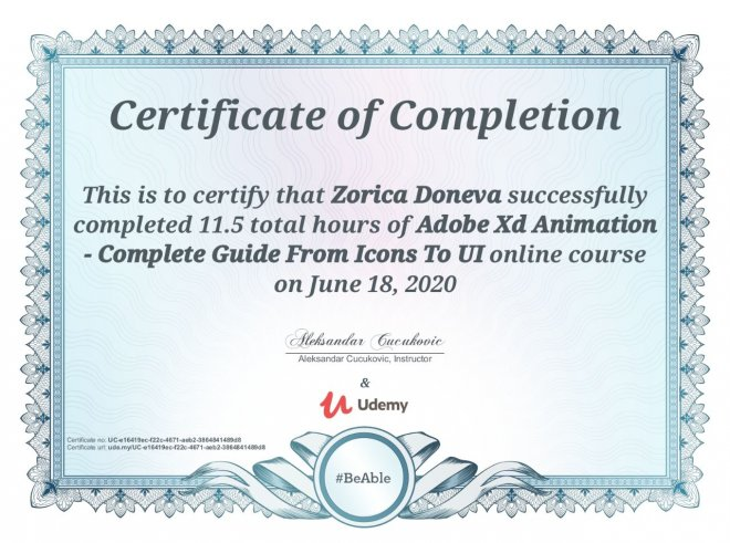 Adobe-XD-Animations-Certificate